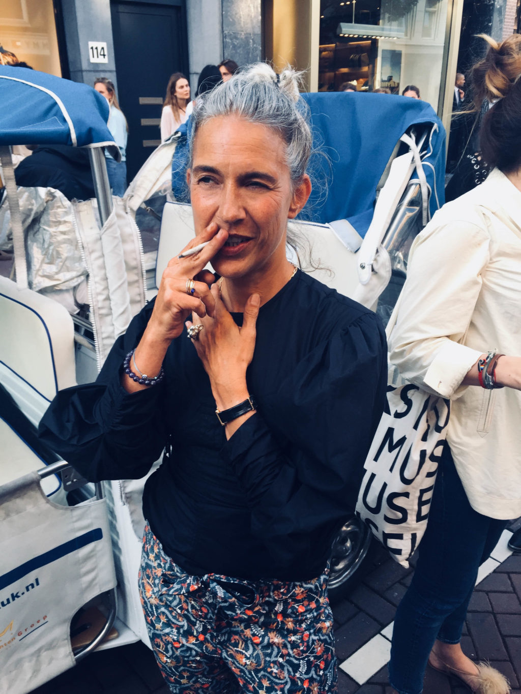 Isabel Marant wearing the Colette Ring by Pit Bomans