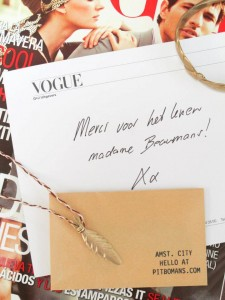 VOGUE // MERCI NOTE